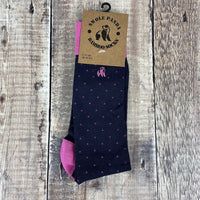Men's Socks - Spotted Pink
