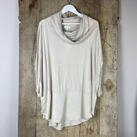 Carole Drape Top - Birch Grey (Ivory)