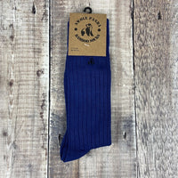 Men's Rib Socks - Royal Blue