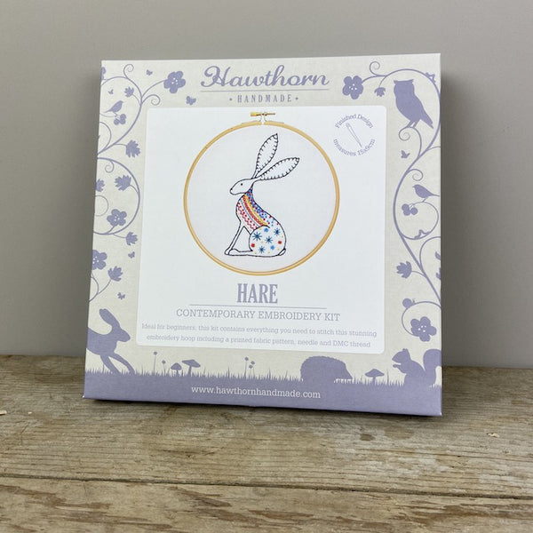 Hare Contemporary Embroidery Kit