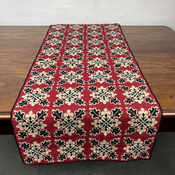 Early C20th Woolwork Stool Cover