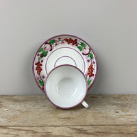 C19th Lustre Cup and Saucer