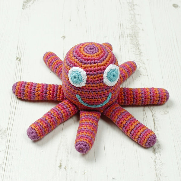 Crochet Octopus Rattle - Pink
