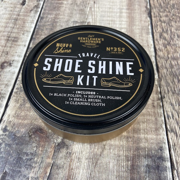 Travel Shoe Shine Tin