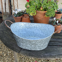Oval Planter with Handles