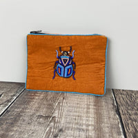 Rust Velvet Beetle Purse - Small