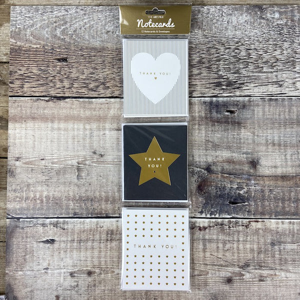 Notecard Hanging Pack 12 - Heart/Star