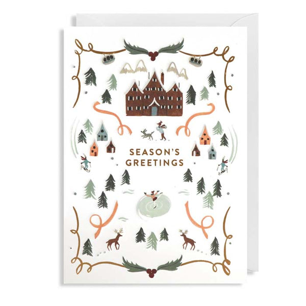Meghann Rader - Pack of 5 Christmas Cards - Seasons Greetings