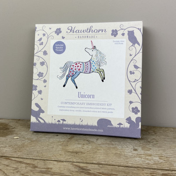 Unicorn Contemporary Embroidery Kit