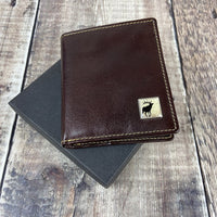 Leather Wallet - Brown - Stag