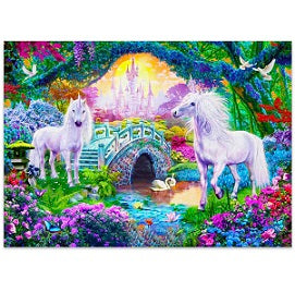 FULLY BEADED! UNICORNS AND CASTLE 50*70cm
