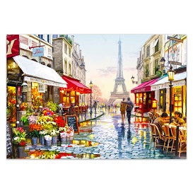 FULLY BEADED! PARIS STREETS AND SHOPS 58*48cm