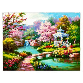FULLY BEADED! COLORFUL SERENE GARDEN 40*50cm