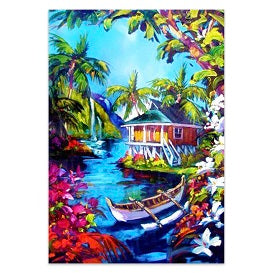 FULLY BEADED! TROPICAL HUT 45*65cm