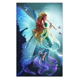 FULLY BEADED! MAGICAL GREEN FAIRY 50*70cm