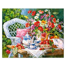 FULLY BEADED! GARDEN TEA PARTY 40*50cm