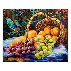 FULLY BEADED! TEMPTING FRUITS 40*50cm