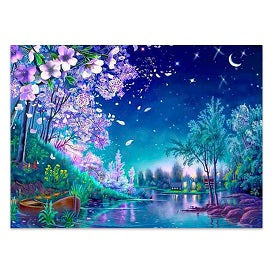 FULLY BEADED! MYSTICAL NIGHT VIEW 40*55cm