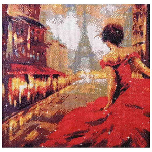 FINISHED DESIGN! LADY IN RED IN PARIS 48*48cm