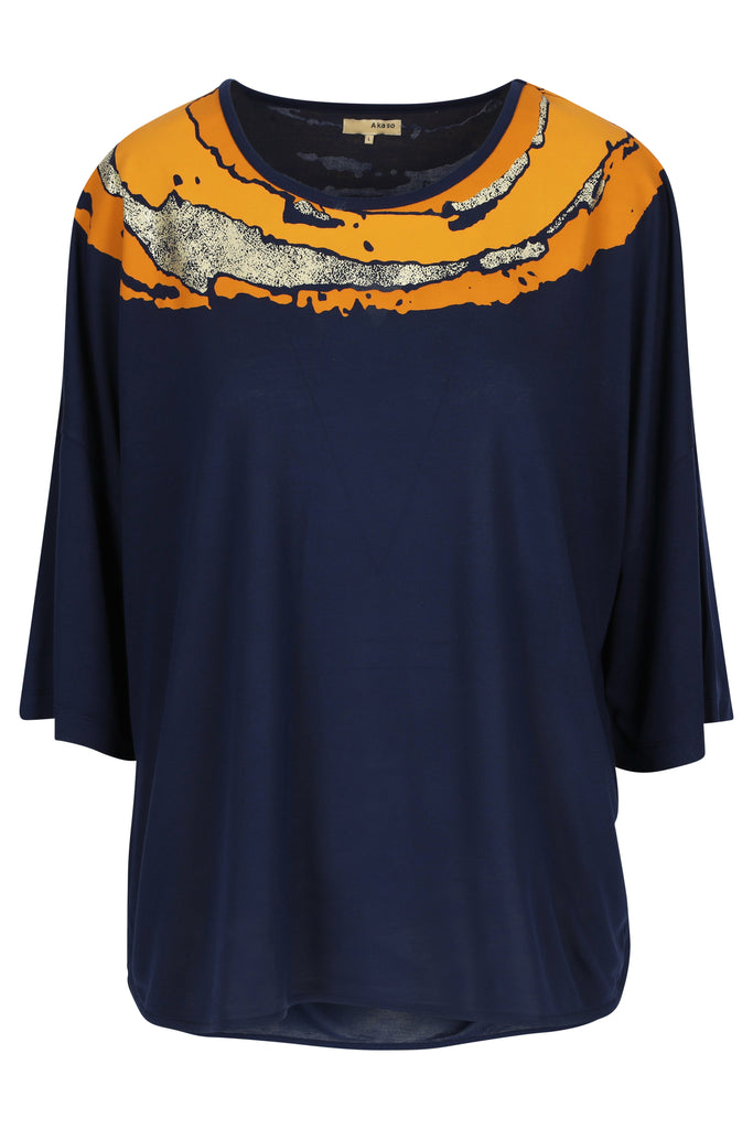 Modal Top 3/4 Sleeve Afari Cosmic Midnight
