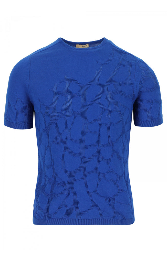 Organic Cotton Top Cyrus Cellula Cobalt Blue