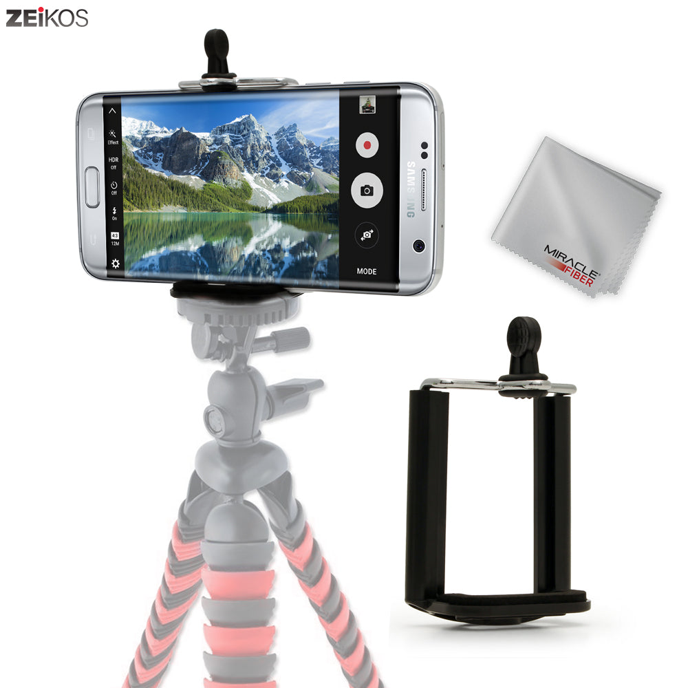 Zeikos Tripod Phone Mount Adapter, Universal 1/4 Mounting Hole Screw, Also Work with Monopod and Selfie Stick, Attachment for iPhone and Android - iHip