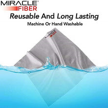 Load image into Gallery viewer, Gray 6X7 High Quality Miracle Fiber Microfiber Cleaning Cloth -1 Pcs