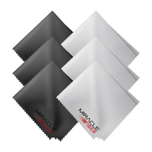 Load image into Gallery viewer, Miracle Fiber Microfiber Cleaning Cloths (6 Pack- 3 Black & 3 Grey)