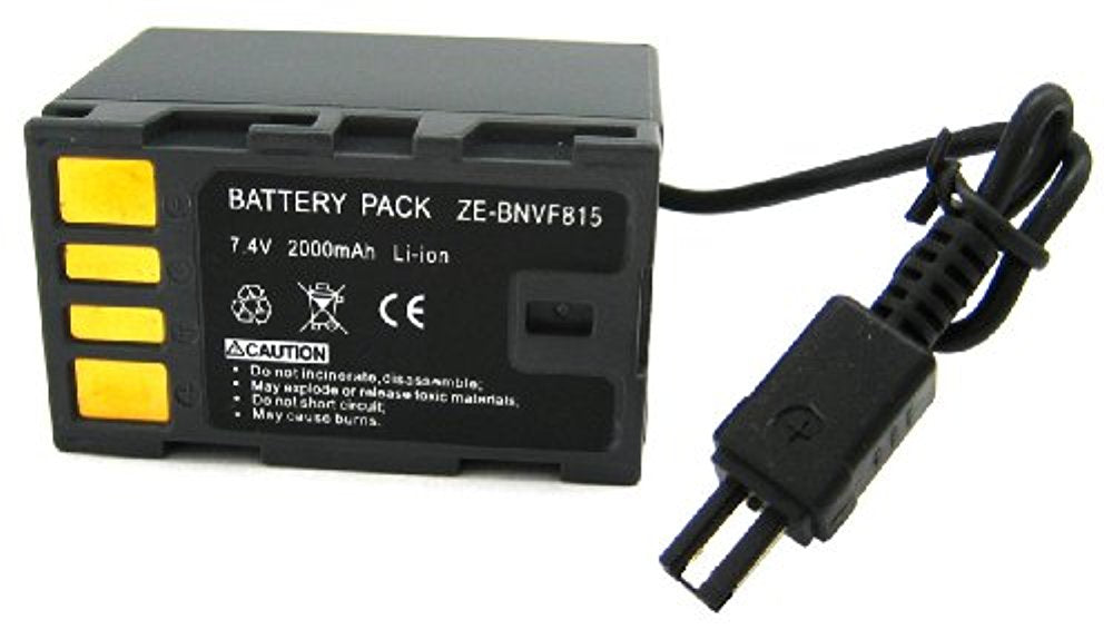 Zeikos ZE-BNVF815 Rechargeable Lithium Replacement Battery (Black ) - iHip