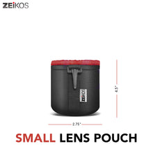 Load image into Gallery viewer, Zeikos Lens Case, Small Size, Thick Protective Neoprene Pouch for DSLR Camera Lens (Canon, Nikon, Pentax, Sony, Olympus, Panasonic), Comes with a Miracle Microfiber Cloth - iHip
