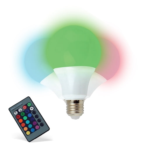 iHip Multi Color Changing LED Light Up Bulb with Remote Control more than 16 Different Color Choices Smooth, Flash or Strobe Mode- Premium Quality & Energy Saving 50,000 Hour LED Bulb