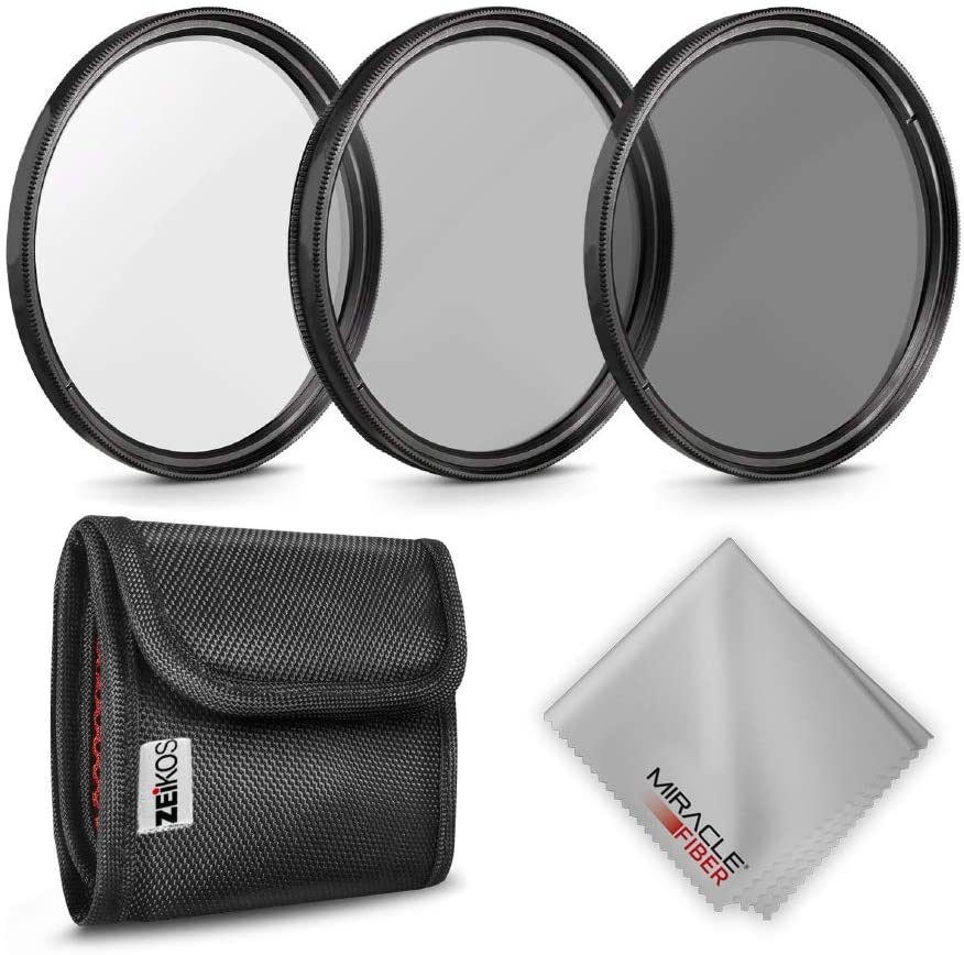 Zeikos | Neutral Density Professional Photography Filter Set (ND2 ND4 ND8)