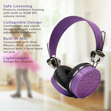 Load image into Gallery viewer, Gem Sound Purple Bling On Ear Wired Headphones