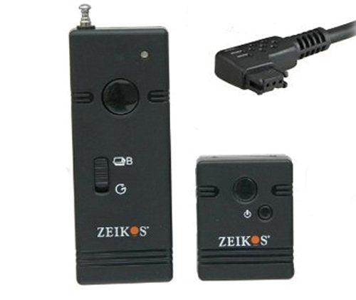 Zeikos ZE-WSRS Professional Wireless Remote Shutter Release for Sony Alpha Camera A7R III, A9 A7R II, A7 II, A7 A7R A7S A6500 A6300 A6000 A55 A65 A77 A99 A900 A700 A580 A560 A550 A500 A450 A390 A380