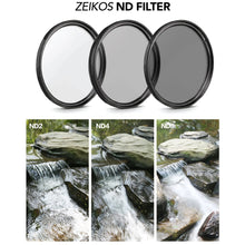 Load image into Gallery viewer, New 52MM Zeikos Neutral Density Professional Photography Filter Set (ND2 ND4 ND8) + MiracleFiber Microfiber Cleaning Cloth + Filter Pouch (52MM) - iHip