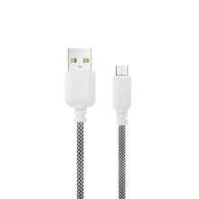 Load image into Gallery viewer, iHip 10ft PVC Micro USB High-Speed Data and Charging Braided Cable Black & White for Samsung Galaxy, Samsung Note, LG, Nexus, Nokia, PS4, Xbox One Controller