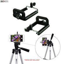 Load image into Gallery viewer, Zeikos Tripod Phone Mount Adapter, Universal 1/4 Mounting Hole Screw, Also Work with Monopod and Selfie Stick, Attachment for iPhone and Android - iHip