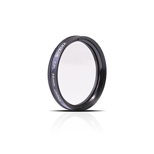Zeikos 46mm Multi-Coated CPL Circular Polarizer Glass Filter w/ Rotating Mount For Olympus 25mm, 12mm f/2.0, 17mm f1.8, 60mm f/2.8, Panasonic LUMIX G 14mm f/2.5 & Lumix G X Vario PZ 45-175mm