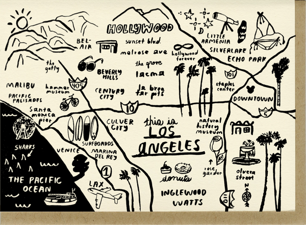 Notecard Los Angeles Map