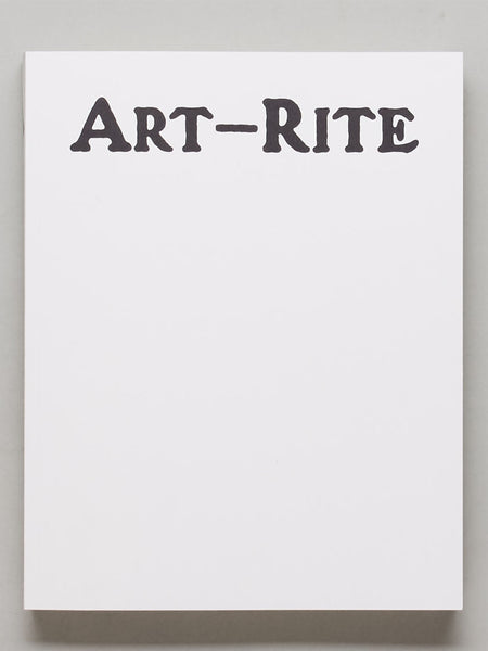 Art-Rite: Artists' Books