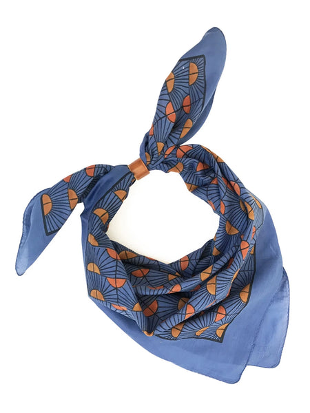 Block Shop: Rosehip Cobalt Square Scarf