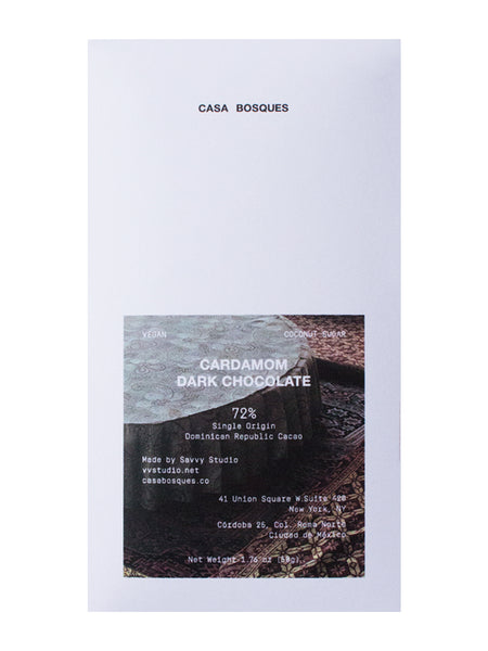 Casa Bosques: Cardamom Chocolate Bar