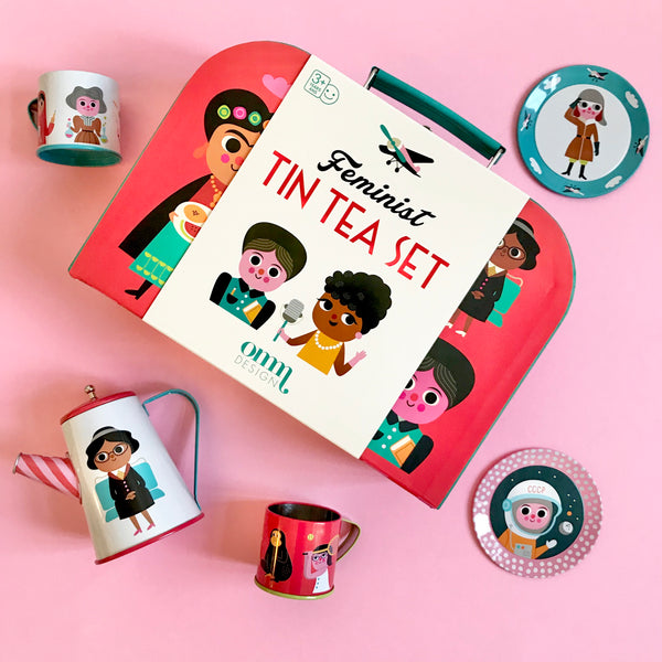 Feminist Tin Tea Set
