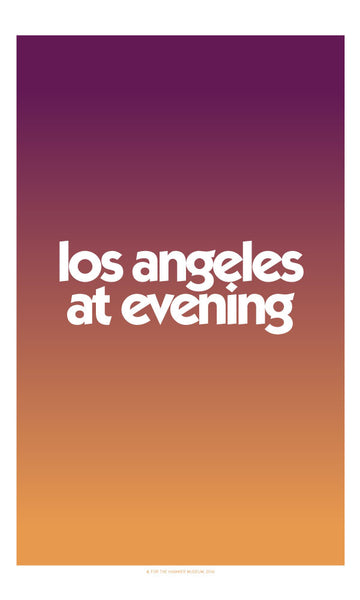 Los Angeles at Evening Poster