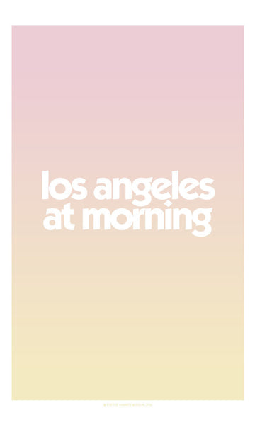 Los Angeles at Morning Poster