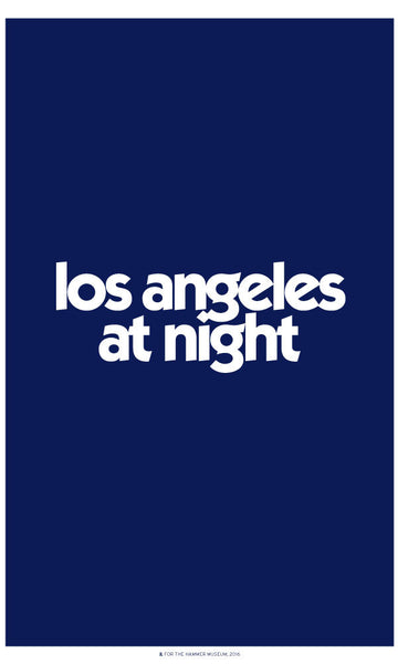 Los Angeles at Night Poster