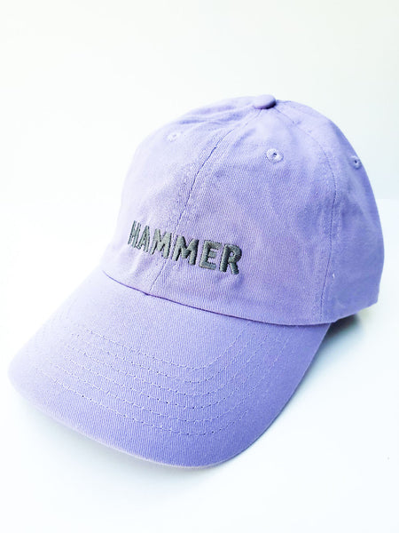 Hammer Hat Lavender with Gray