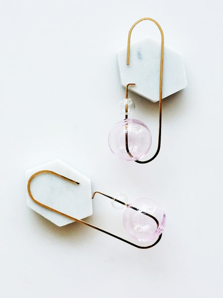 Hyworks: Loop Earrings Pink No. 2