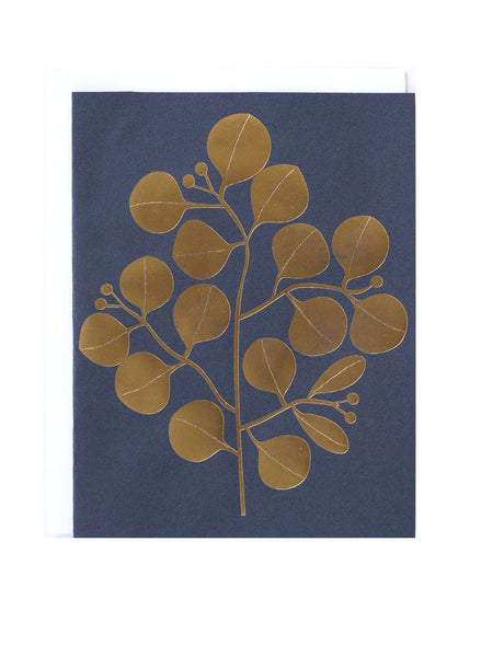 Notecard Golden Leaves