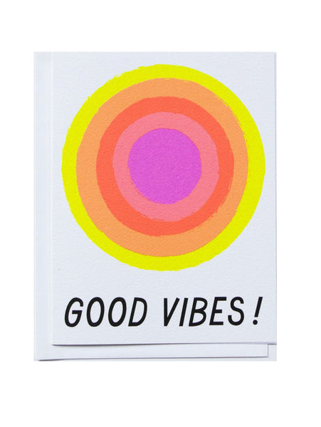Notecard Hello Good Vibes